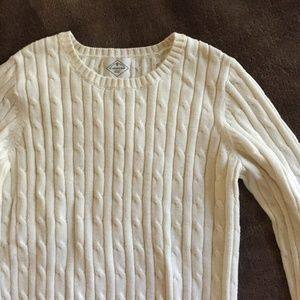 St. John's Bay Cream Cable-Knit Sweater